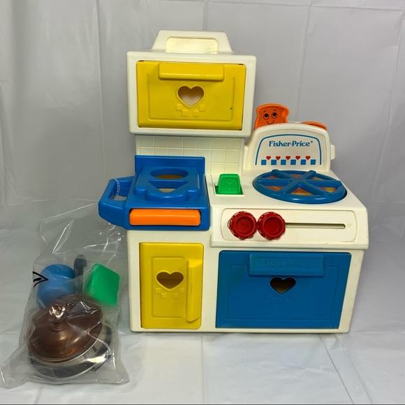Fisher Price Toys Vintage Fisherprice Toy Kitchen Set 35 Poshmark